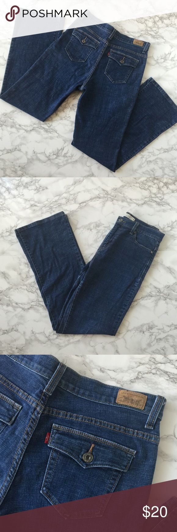 Levis 512 Boot Cut Jeans Levis perfectly slimming 512 jeans in excellent condition. Size 10m, mid rise pants sits at waist. Levi's Jeans Boot Cut
