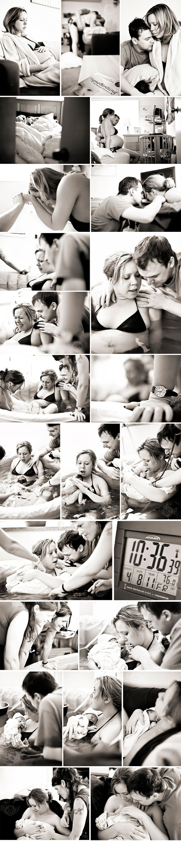 Mike won't allow a home birth, but the water birth is a definite possibility!  Lovely home birth photos