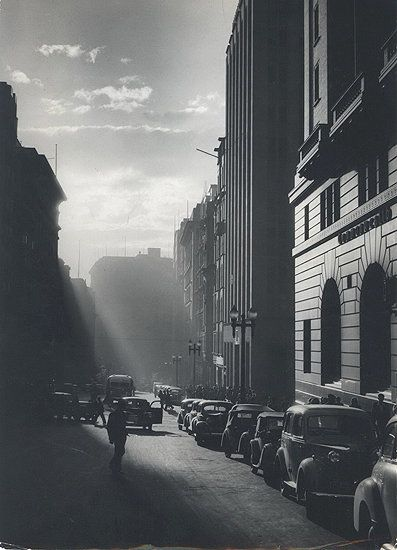 Rush Hour, Martin Place, Sydney, 1949. by David Moore