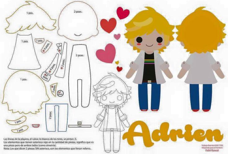 Diy Boneco de Feltro Adrien