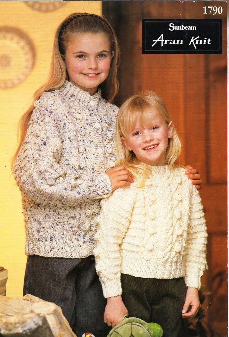 184 best vintage baby children aran knitting patterns knit childrens aran sweater cardigan knitting pattern pdf cable jumper jacket vintage 22 32 inch aran bankloansurffo Choice Image