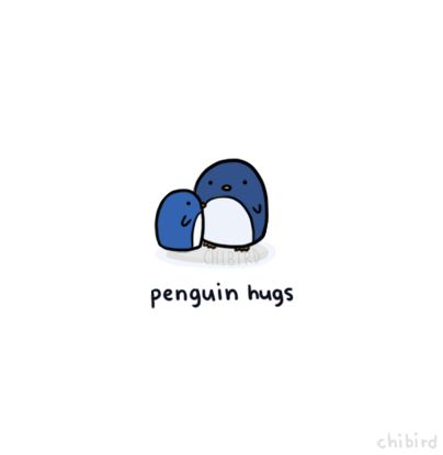 Penguin hugs