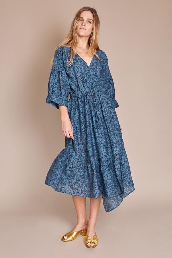10bf50afcff868 Apiece Apart Anichka Wrap Dress - Marine Floral | bridesmaid dresses ...