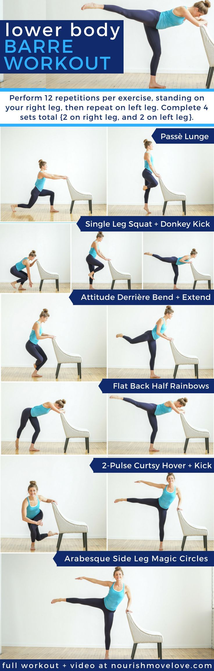 6 Glute Toning Barre Moves | glute exercises | glute exercises for women |  butt workouts | leg workouts | lower body workouts |   barre workouts || Nourish Move Love #glutesworkout #workout #strength