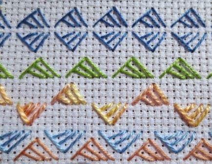 Fat-Quarter: Triangular buttonhole stitch
