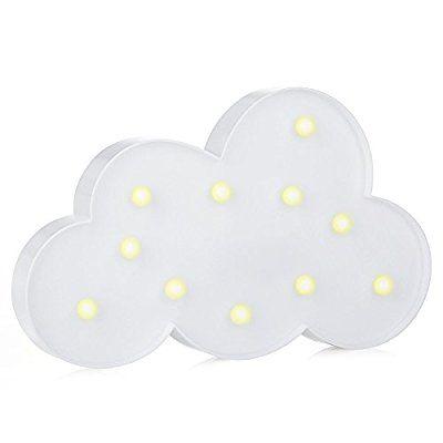 LED Nacht Licht Nacht Tisch Lampe   ZWOOS Warmweiße LED Deko Batterien  Betrieben (Nicht Im