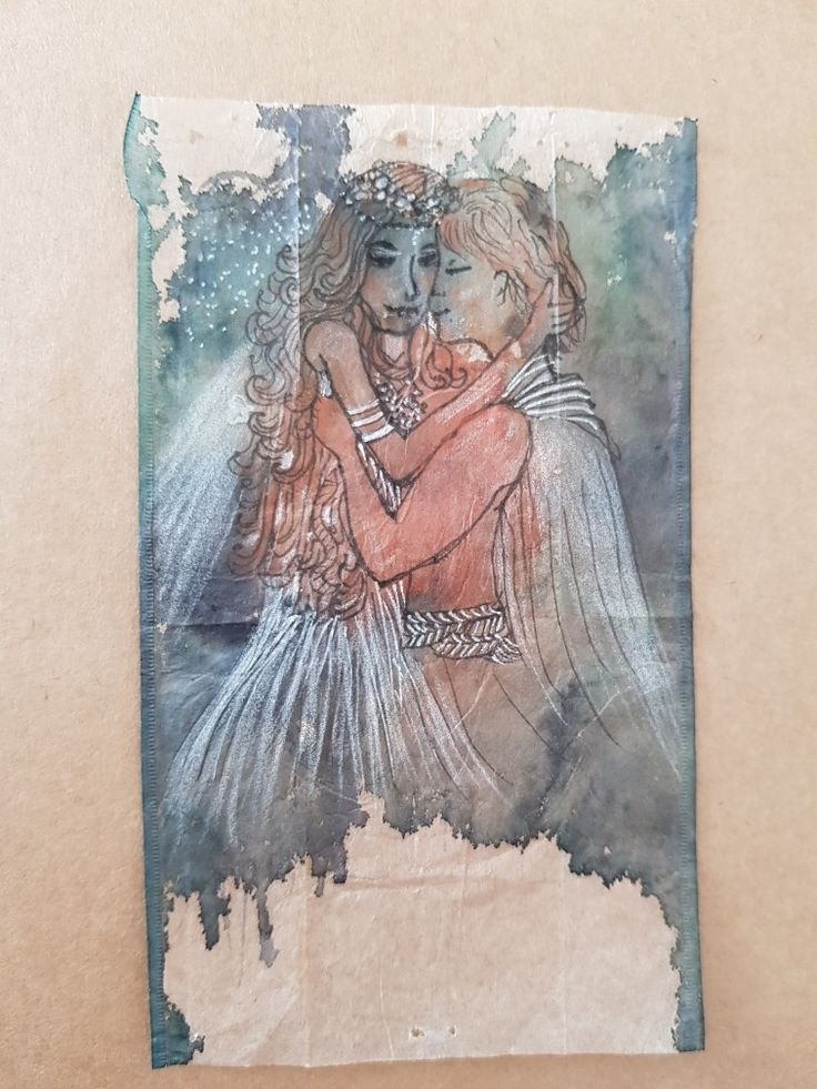 My sketch book Tea bag art By lorena carreño