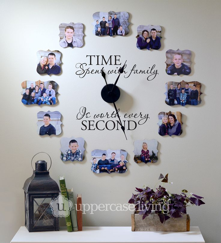 time spent with family is worth every second photo wall clock photo wall clocksphoto