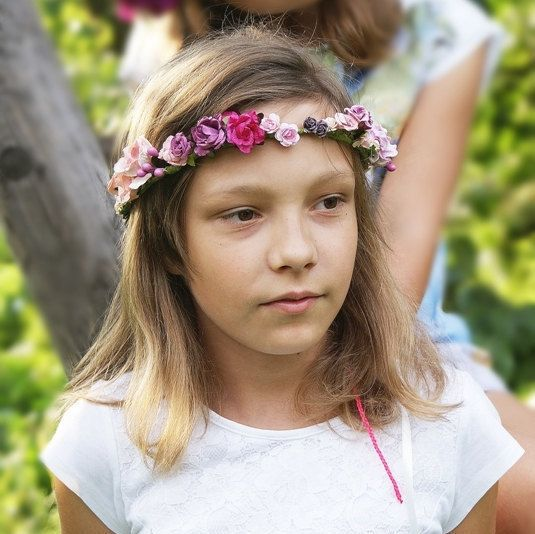 babies wreath floral crown lilac crown flower girl by mamwene