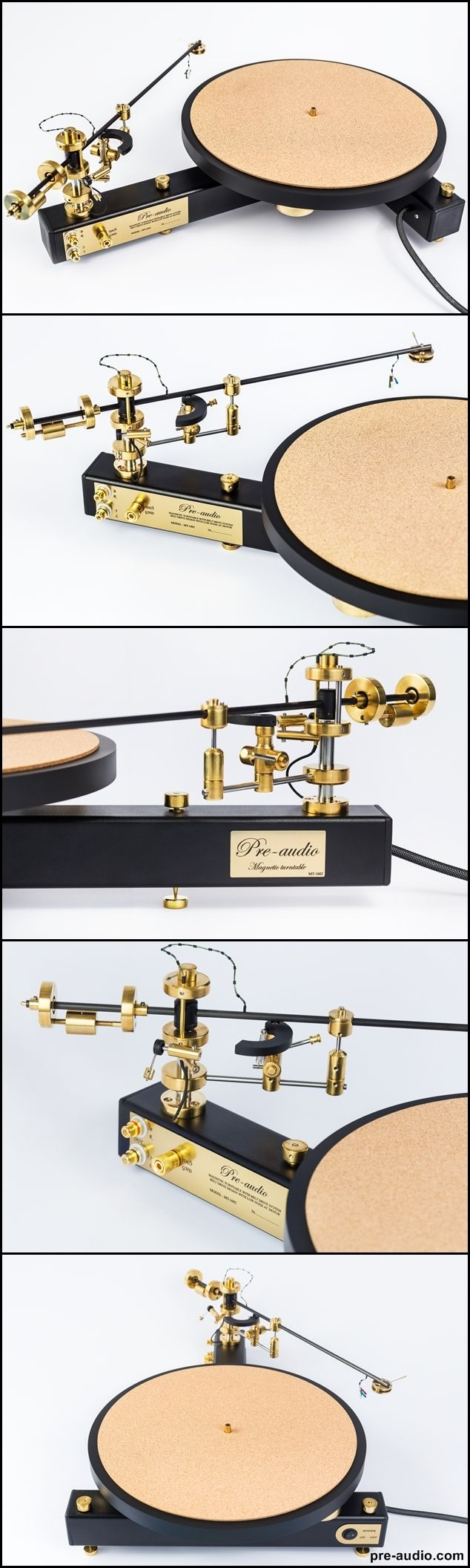 Turntable MT-1602, classic turntable with magnetic suspension of the tonearm