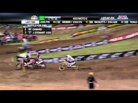 Trey Canard & James Stewart Battle Again - 2013 Spring Creek MX 450 Moto 2 Final Laps - YouTube