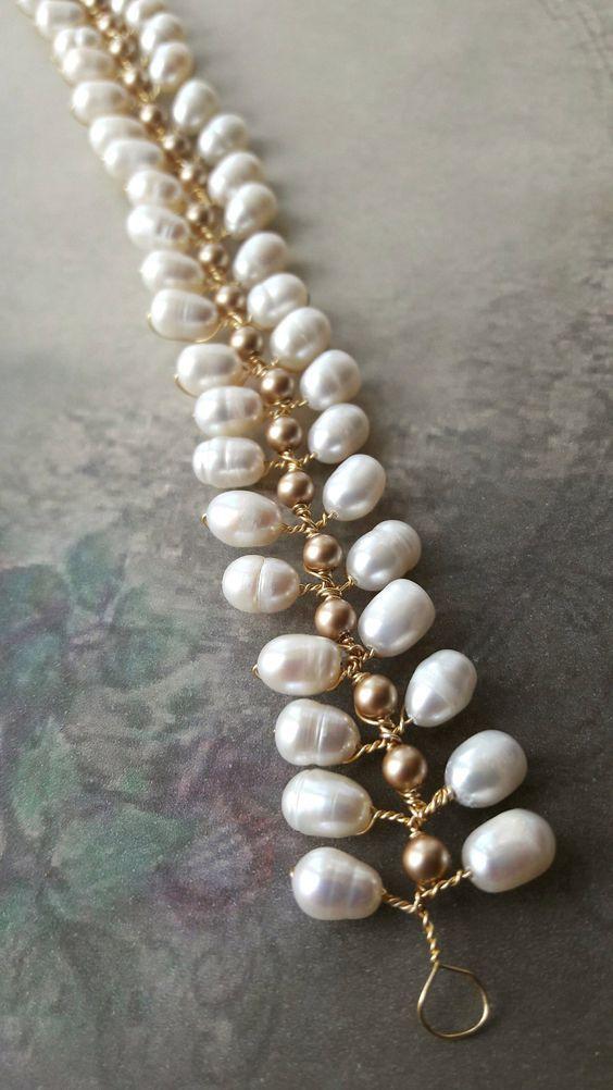 White freshwater pearl wedding hair vine, Bridal hair accessory with Swarovski pearls, Greek style olive branch wreath vine headpiece by OdesiaMayJewellery on Etsy