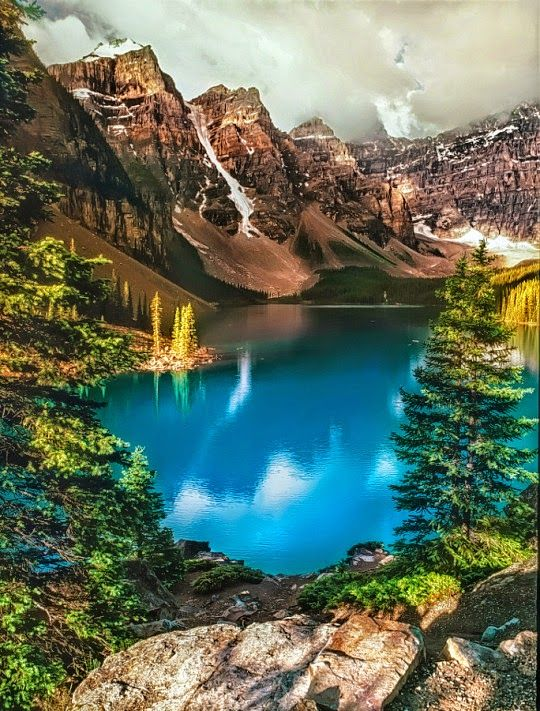 Lac Moraine Lake - #Canada  by Yvon Lacaille Travel, world, places, pictures, photos, natures, vacations, adventure, sea, city, town, country, animals, beaty, mountin, beach, amazing, exotic places, best images, unique photos, escapes, see the world, inspiring, must seeplaces.