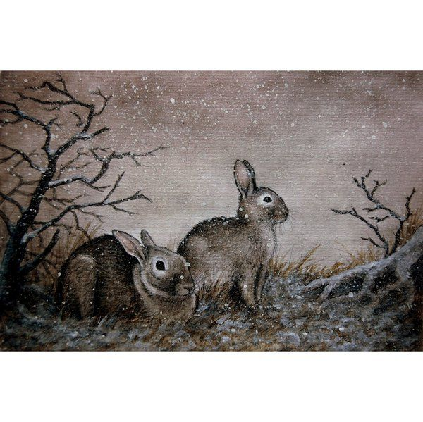 first snow by moussee (print image)love this!