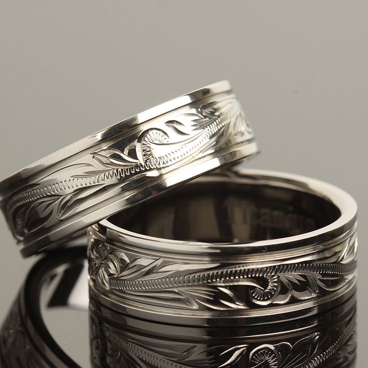 His ring- Hawaiian Jewelry Titanium Scrolling Ring 8mm - Makani Hawaii,Hawaiian Heirloom Jewelry Wholesaler and Manufacturer
