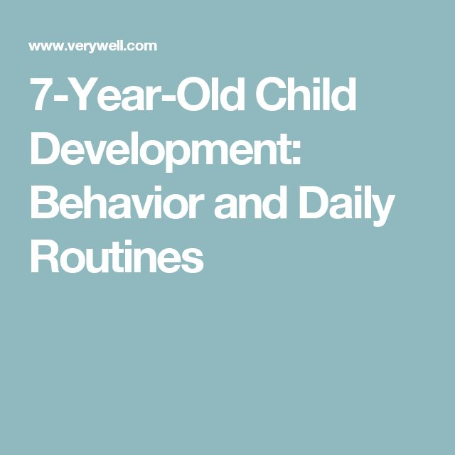 7-Year-Old Child Development: Behavior and Daily Routines