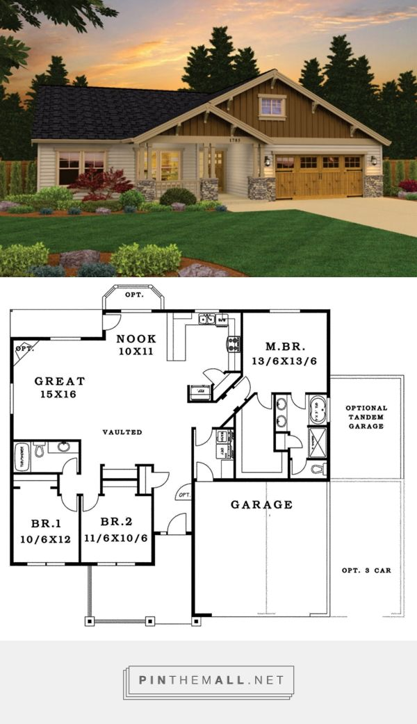 Craftsman Style House Plan 3 Beds 2 Baths 1785 Sq Ft Plan 943 43 Craftsman House Plans Craftsman Style House Plans New House Plans