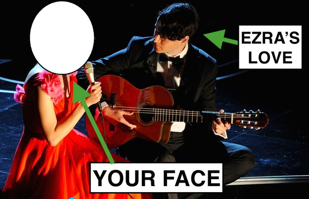 Mainly because, even though you love Karen O, your heart melted because you wish it could be you. | 27 Reasons Why Everybody Needs Some Ezra Koenig From Vampire Weekend In Their Life