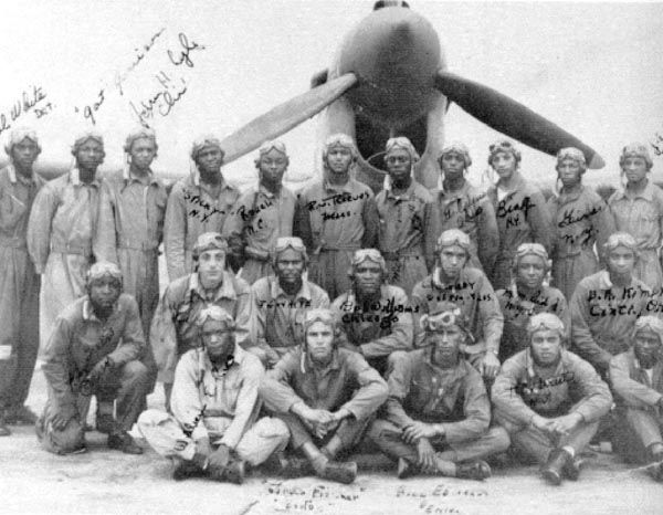 This is a picture of the pilots with there autographs from world war two, most of these men never made it home.