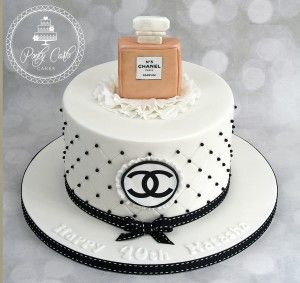 Chanel No 5 Birthday cake