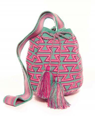 Miss  Mochila  Mint Aztec Cartagena Mochila Tassel Bag