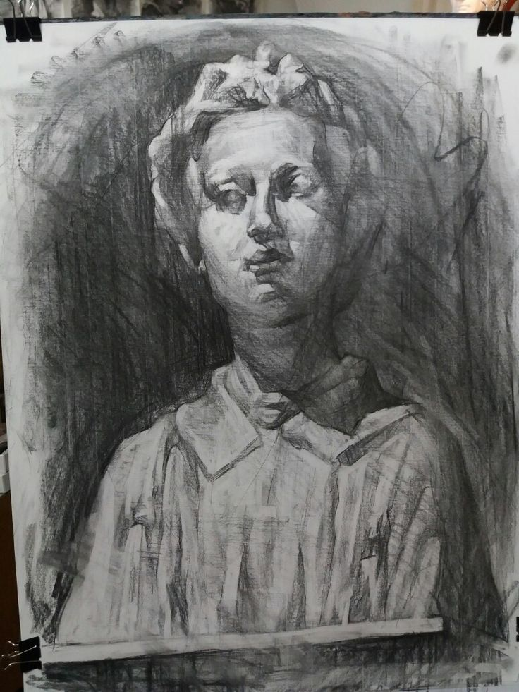 Young priest-charcoal on paper,50x70
