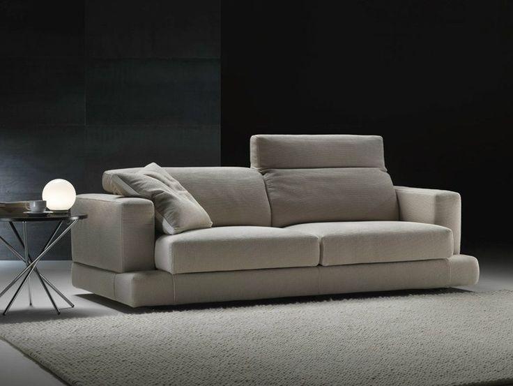 Sofá tapizado de tela con reposacabeza con funda extraíble GHOST by GYFORM