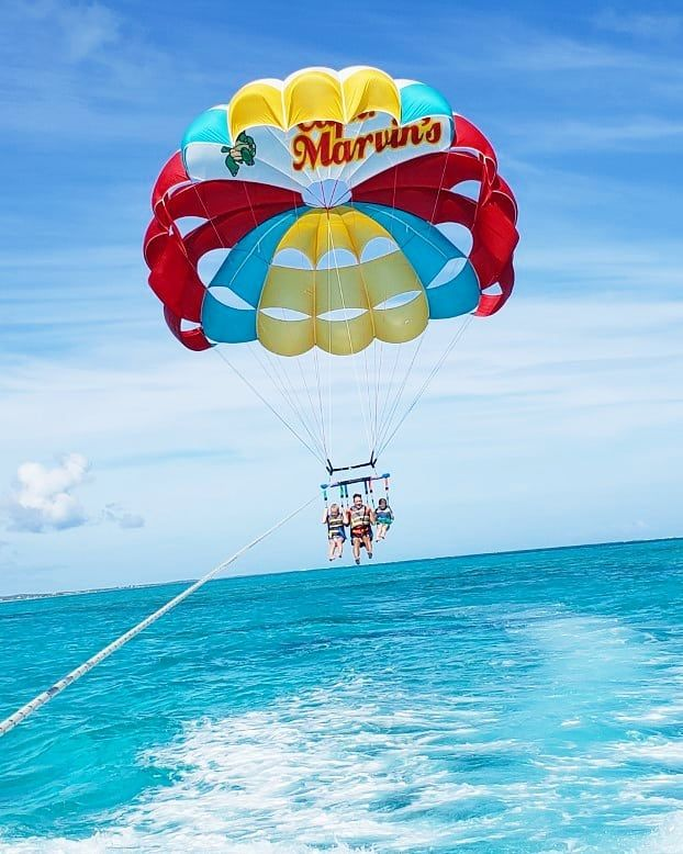 Turks And Caicos Islands On Instagram Heading All The Way Up With Captmarvins Parasail Captain Marvin Parasailing Turks And Caicos Turks And Caicos Islands