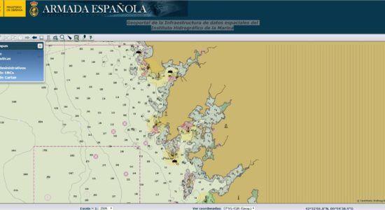Geoportal del Instituto Hidrográfico de la Marina. Accede gratis a las cartas náuticas españolas