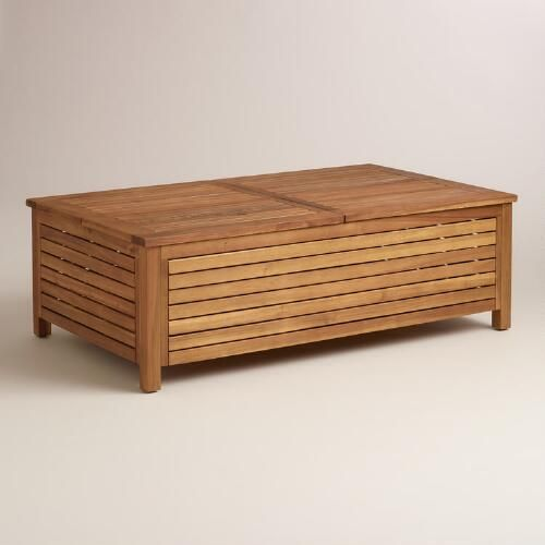 One Of My Favorite Discoveries At Wood Praiano Outdoor Storage Coffee Table