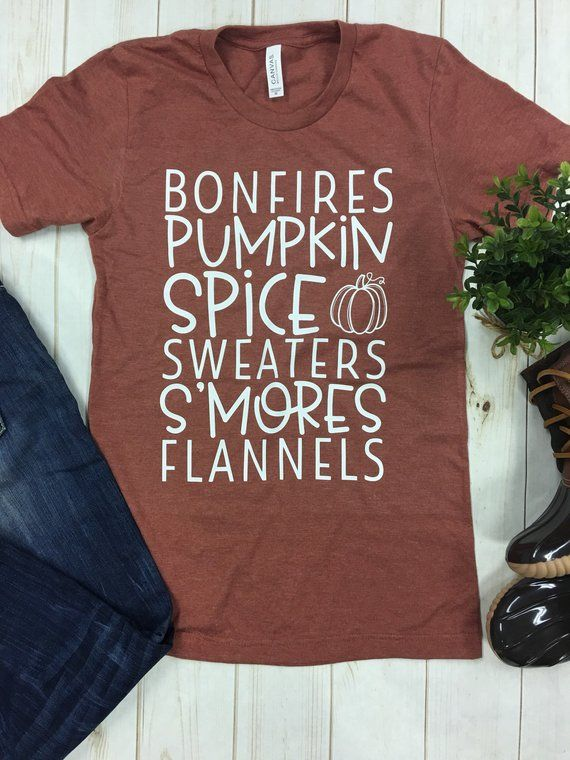 Bonfires Pumpkin Spice Sweaters Smores Flannels,Pumpkin Spice Shirt,Fall Shirt,Womens Fall Shirt,Fall Shirt For Women,Halloween Shirt