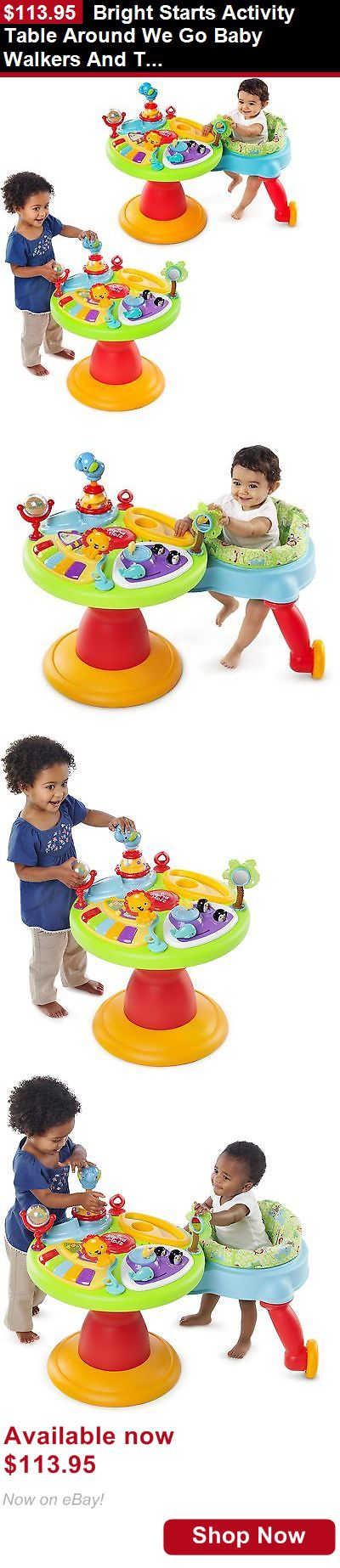 Baby activity centers: Bright Starts Activity Table Around We Go Baby Walkers And Toddler Play Center BUY IT NOW ONLY: $113.95