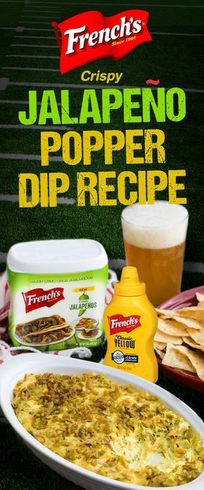 French's Jalapeno Popper Dip recipe is a real game changer! Only 5 minutes to prep, and done in 20. This is a football party appetizer you'll want to try.