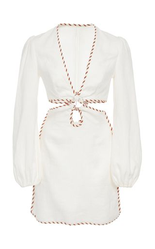 e37fdc8577d Shop Corsage Braid Cutout Mini Dress. This   Zimmermann   Corsage Braid  Cutout Mini Dress features a relaxed fit and flare silhouette with a  plunging ...