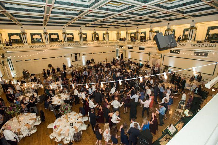 Elaina & Brian | Soldiers & Sailors Museum| Grand Ballroom | Pittsburgh Wedding | Fall Wedding | October Wedding | Rania's Catering | Goldstein Photography | Grey Phoenix Lighting | Greek Wedding | Dancing | Reception Fun |