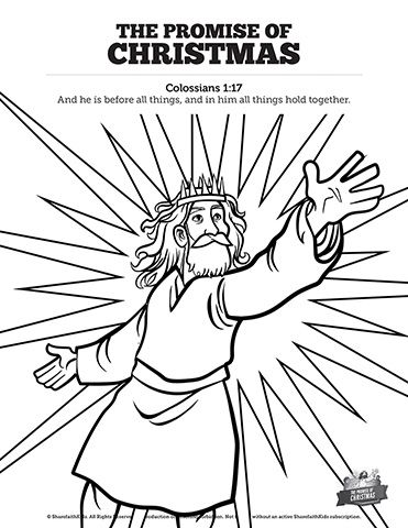 The Promise of Christmas Sunday School Coloring Pages