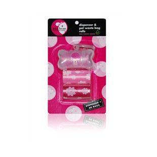 GIRL Transparent Bone Shape Dispenser & Biodegradable Waste Pick-Up Bags - BD Luxe Dogs & Supplies