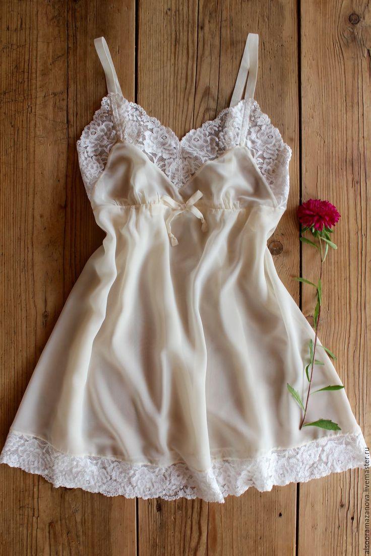 """Купить Сорочка Нежное Утро Невесты """"Lollipop Forever Bride"""" - белый, однотонный, молочный"""