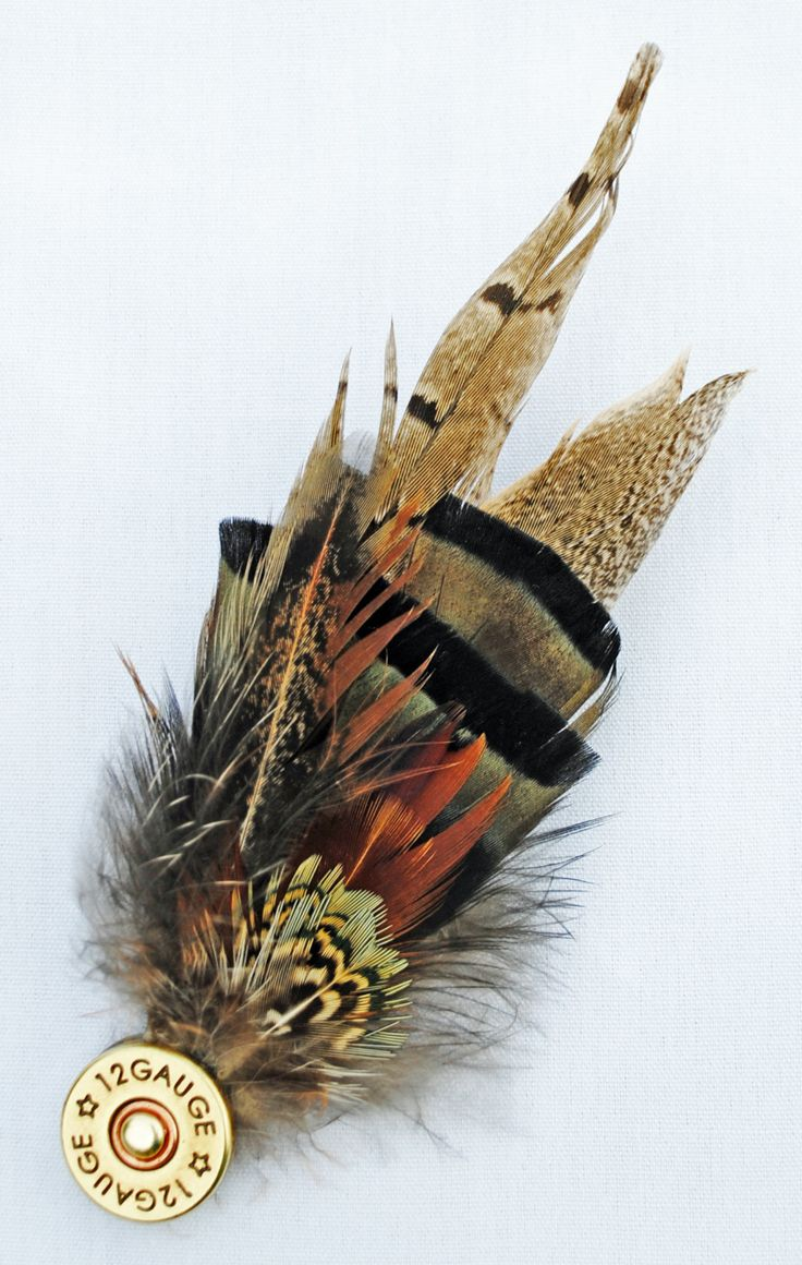 How to clean pheasant feathers - What A Creative And Gorgeous Idea It S A Feather Pin With Shotgun Shell She Has So Many Other Beautiful Pieces Too Which Are Available At Her Online