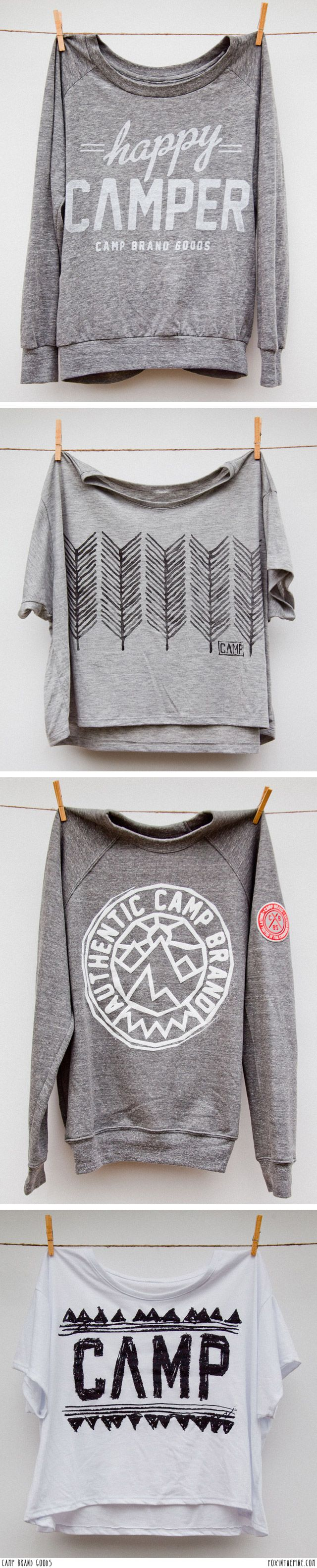 I love the first and third one, I want these Camp Brand Goods  // FOXINTHEPINE.COM
