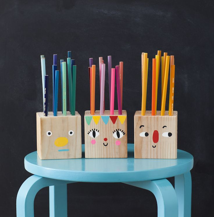 Playful Pencils Holder Heads: & A Back-to-School Round Up