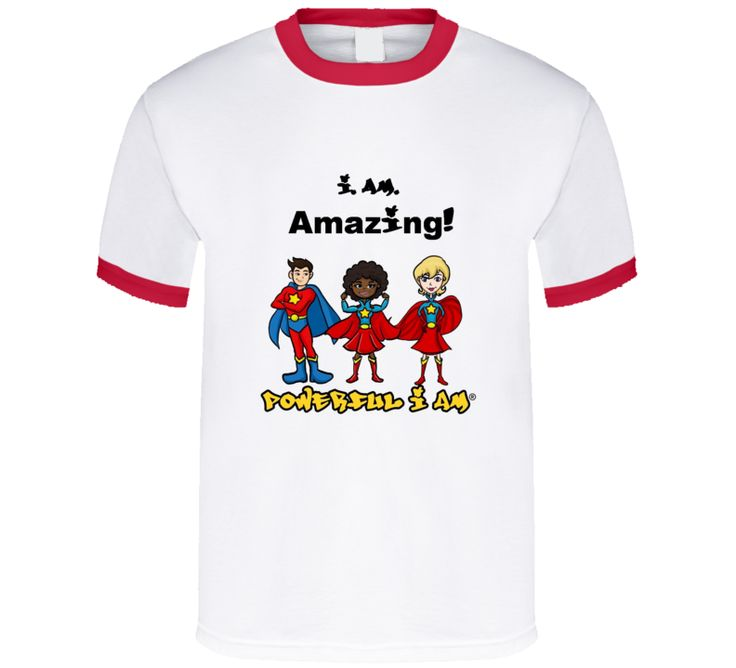 i AM Amazing Red Ringer Tee  $22.00