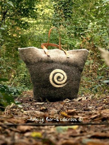 Felt bag - water & soap - 2010