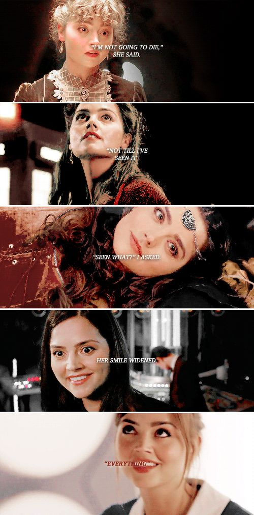 Clara: And so she lived. #doctorwho