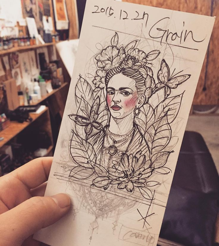 fridakahlo fridakahlodrawing roughsketch tattoo grain inprogress. Black Bedroom Furniture Sets. Home Design Ideas