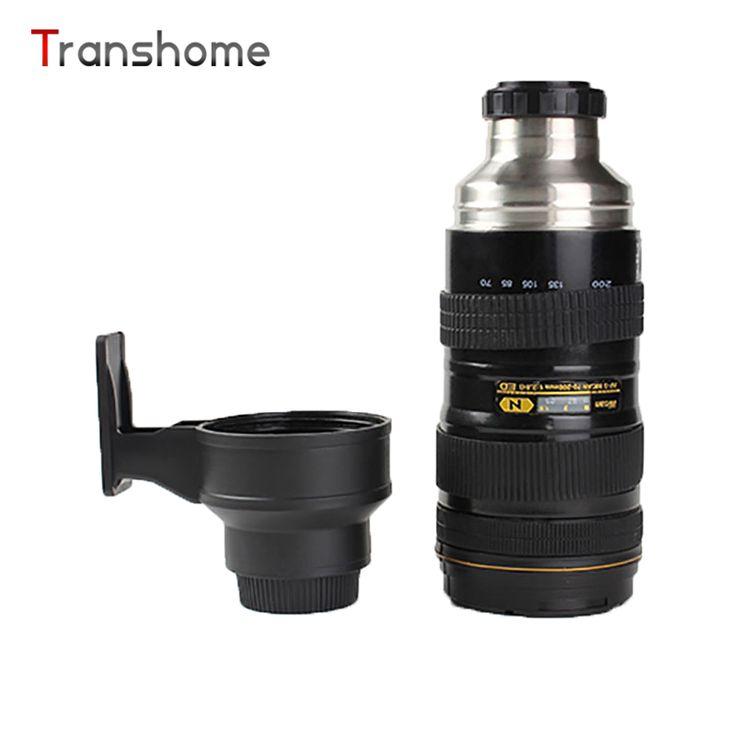 Transhome Camera Lens Mug 580ml Thermos Bottle Creative Stainless Steel Nikon SLR Camera Lens Insulation Bottle For Coffee Kuksa #Affiliate