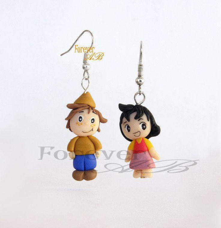 Orecchini Heidi e Peter -fimo-idea regalo, by Forever AB, 9,00 € su misshobby.com