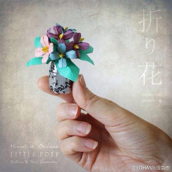 2462 best origami flowers images on pinterest origami flowers miniature oribana little posy mightylinksfo
