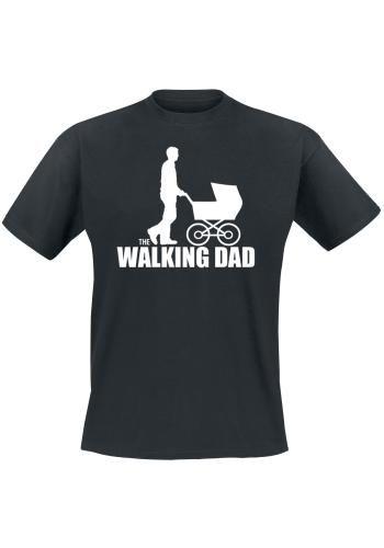 "Classica T-Shirt uomo nera ""The Walking Dad""."