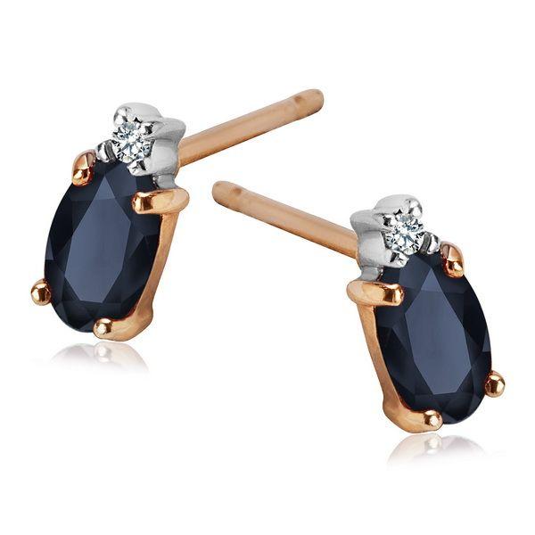 Kolczyki złote z diamentami i szafiry - Biżuteria srebrna dla każdego tania w sklepie internetowym Silvea